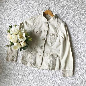 Lady Hathaway Utility Jacket Blazer Cream Size Med